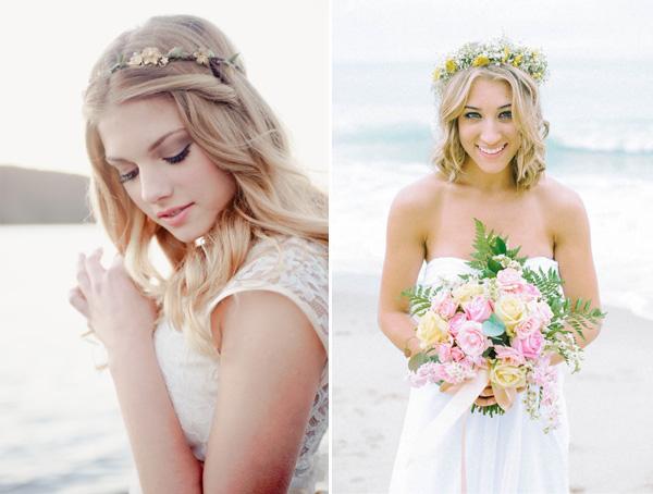 beach-wedding-brides-with-flower-crowns-for-2014-summer-wedding-ideas