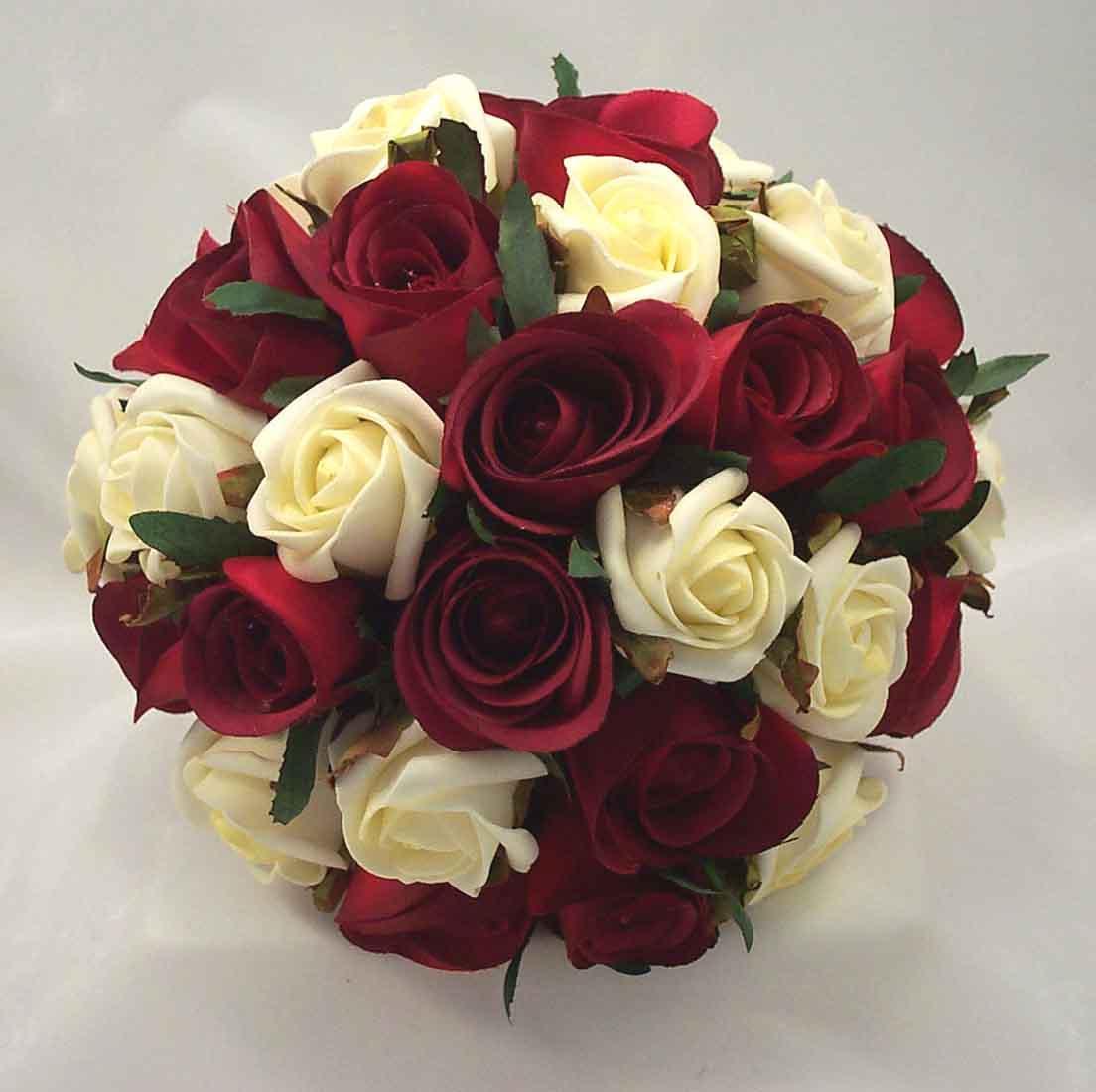 Burgundy silk wedding flower ideas burgundy ivory rose bridal published december 14 2015 at 1104 1100 in rose bridal bouquets mightylinksfo