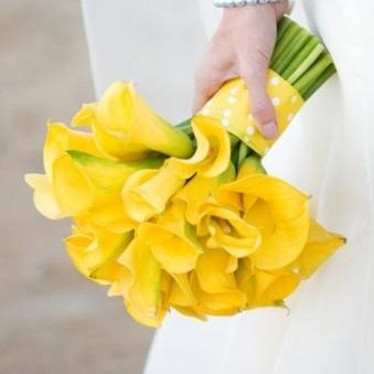 Classic-Yellow-Mini-Calla-Lily-Wedding-Bouquet