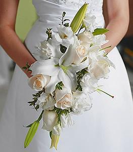 White-Rose-&-Lily-Bridal-Bouquet-product-bride_bouquet_001 | Wedding ...